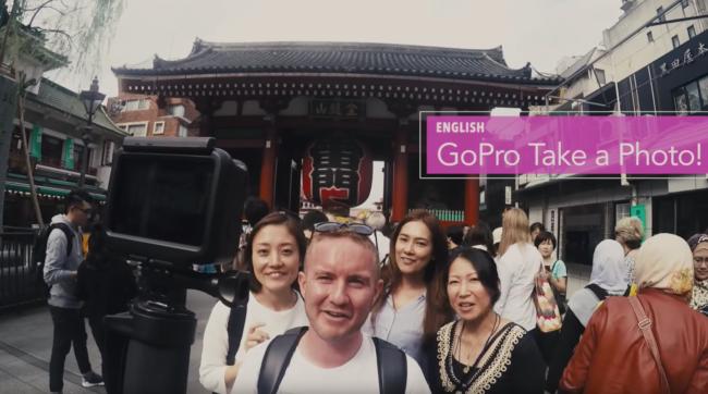 GoPro HERO5のボイスコントロール機能を外国人に使ってもらう