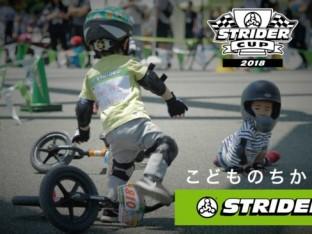 ストライダーキッズレース中の友達を助ける